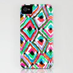 Watercolor Ikat iphone case
