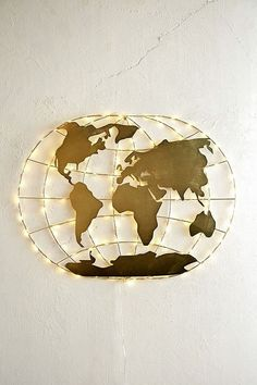 World Map Fairy Light | Urban Outfitters | Home & Gifts | Lighting #UOEurope #UrbanOutfittersEU #UOHome