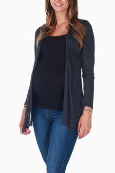 Charcoal Maternity Cardigan #maternity #fashion