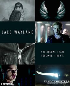Shadowhunters:Meet Jace Wayland, our fearless Shadowhunters...