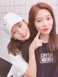 yujin and minjoo ✨ Kpop Girl Groups, Korean Girl Groups, Kpop Girls, I Love Girls, Cool Girl, Yu Jin, Japanese Girl Group, Kim Min, Female Singers