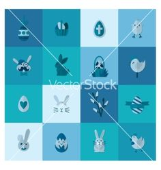 Celebration easter icons vector by HelenStock on VectorStock®