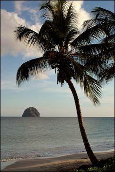 Mer calme...Sous le soleil... Diamant en Martinique