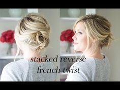 stacked reverse french twist hair tutorial – The Small Things Blog