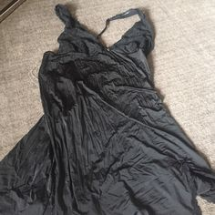 Black Lace Nighty VS black nighty with crisscross back and side slit. Super pretty!! Never worn. Victoria's Secret Intimates & Sleepwear