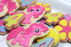 My Little Pony Sugar Cookies Decorated Sugar Cookies Birthday Party