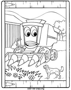 coloring pages john deere printable - John Deere Combine Coloring Pages