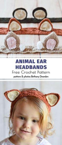 Crochet animals 378724649916337019 - Animal Ear Headbands Free Crochet Pattern Sie Stirnband Adorable Baby H… : Animal Ear Headbands Free Crochet Pattern Sie Stirnband Adorable Baby Headbands Source by NamiLaPyro Crochet Diy, Crochet For Kids, Crochet Crafts, Crochet Projects, Crochet Ideas, Crochet Baby Stuff, Yarn Crafts, Confection Au Crochet, Animal Ears