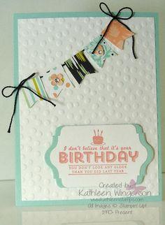 KathleenStamps: See Ya Later Birthday Card - Workshop Preview #1