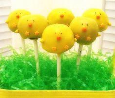 Cake Pops  Easter Chicks by DelightIndulgence on Etsy