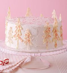 How to Make a Peppermint Forest Cake