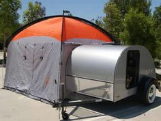 This is my ultimate Tear drop trailer, with a tent!!! I can totally handle this!!'