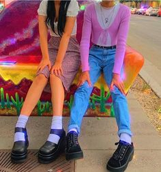Image about fashion in looks by helmetboy on We Heart It Indie Outfits, Punk Outfits, Retro Outfits, Trendy Outfits, Vintage Outfits, Fashion Outfits, Indie Clothes, 2000s Fashion, Indie Fashion