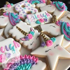"477 Likes, 24 Comments - Cakes & Cookies by Clau (@cakesandcookiesbyclau) on Instagram: ""#unicorncookies"""