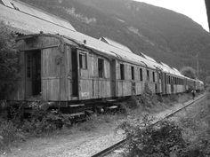 Foto de Vagones abandonados en la Estación internacional del Canfranc ...