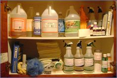 Lisa Bronner's cleaning cabinet. Click on this picture to read Lisa's blog on how she cleans her home using natural, non-toxic ingredients.