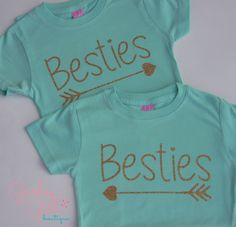 Best Friend Shirts, Best Friends, Bestie Shirt, Kids Best Friend Shirts -pair by GurleyGirlBoutique on Etsy