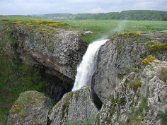La cascade du Déroc sur la commune de Nasbinals (Aubrac)
