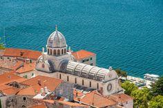 vue sur la mer depuis les remparts de sibenik Taj Mahal, Europe, Building, Travel, Croatia, The Sea, Tourism, Construction, Trips