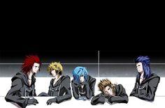 Axel, Roxas, Zexion, Demyx, & Saix