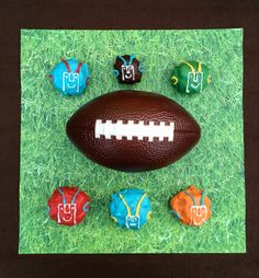 Oreo Cookie Ball Football Players - Perfect dessert for Super Bowl Party