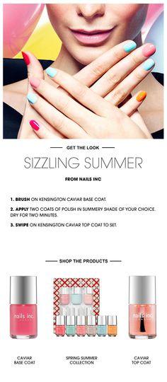 Beauty How To: Sizzling Summer Nails #Sephora #SephoraNailspotting #NailsInc #nailart