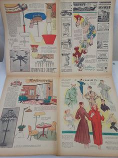 Vintage 1950's Woman's Fashions Lifestyle Le Petit Echo De la Mode Magazine Newspaper by presentpastime, £18.00