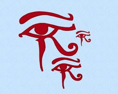 Eye Horus Machine Embroidery Design File in three sizes by lynellen on Etsy https://www.etsy.com/listing/99522615/eye-horus-machine-embroidery-design-file