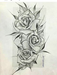 96 best rose drawing tattoo images in 2018 Engel Tattoos, Leg Tattoos, Body Art Tattoos, Sleeve Tattoos, Rose Drawing Tattoo, Tattoo Sketches, Tattoo Drawings, Flower Tattoo Designs, Flower Tattoos