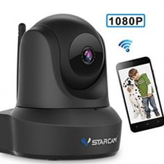 Buy Network Wireless IP Camera, VStarcam Indoor Security Cam WiFi Video Surveillance Monitor, Auto Pan/Tilt Night Vision Motion Alarm Home Camera at Discounted Prices ✓ FREE DELIVERY possible on eligible purchases. Wireless Security Cameras, Wireless Home Security Systems, Security Surveillance, Security Alarm, Surveillance System, Home Security Tips, Security Cameras For Home, Video Security, Wireless Video Camera
