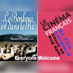 Tomorrow night Le Cinéma Français presents Le Bonheur est dans le Pre at The Leopard, Tutbury. A comedy, popcorn, a few drinks & good company - everyone welcome. Le Cinéma Français is FREE to join & takes place once every two months. #theleopardtutbury #frenchfilms #lecinemafrancais #film #theleopard #tutbury #filmnight #lebonheurestdanslepre