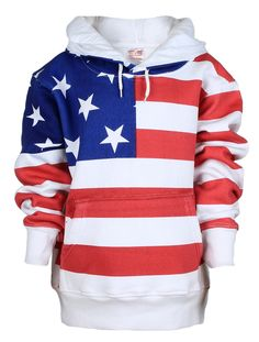 American Flag Full Body Adult Hooded Sweatshirt a81c679e645a
