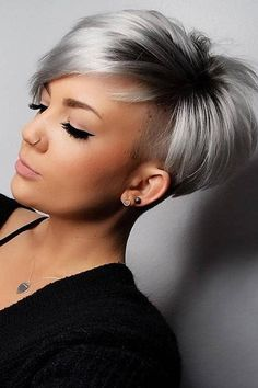 26 Pixie Hairstyles Don't Care About Your Hair Type Feel insecure about your hair type? Check out the trendy pixie hairstyles that will sort things out. See how you can make your styling routine easier! Short Pixie Haircuts, Pixie Hairstyles, Short Hairstyles For Women, Short Hair Cuts For Women Pixie, Pixie Cut With Undercut, Thick Hair Pixie, Thick Hairstyles, Blonde Pixie Haircut, Pixie Cuts