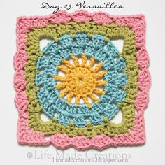 Versailles Granny Square Free Crochet Pattern « The Yarn Box