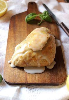 Lemon Basil Scones with 2 Ingredient Lemon Glaze | memo2munch