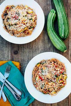 Geröstetem Mais, Zucchini, Tomaten Pasta: Vom Garten - Einige der Klügere