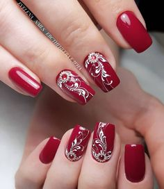 Simple Winter Nails Red Colors For Short Nails Art Designs Um ., Simple Winter Nails Red Colors For Short Nails Art Designs To . - Simple Winter Nails Red Colors For Short Nails Art Designs Red Nail Art, Red Acrylic Nails, Red Nails, Gradient Nails, Winter Nail Art, Winter Nails, Cute Nails, Pretty Nails, Nagellack Design