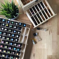 I'm reorganizing my oil collection this morning alphabetically instead of with the rainbow  method. It's sad because the color coordinating always made me feel happy - just looking at it felt good  it was like all was well and proper in the world. Welp, not anymore. It got too chaotic. I've changed over. Hoping this method works better!! How do you organize your oils?