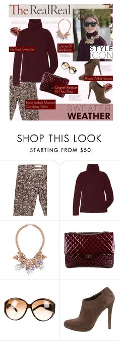 """""""Fall Style With The RealReal: Contest Entry"""" by grapecrush ❤ liked on Polyvore featuring The Row, Ek Thongprasert, Chanel, Gucci, Prada and TheRealReal"""