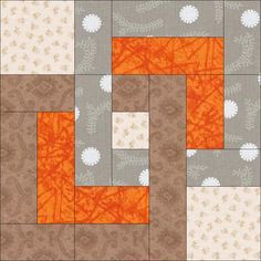 Free Quilt Block Pattern: August Beginner BOM                                                                                                                                                                                 More