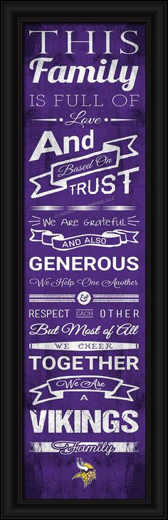 This full-color print features an inspiring message and lets everyone know who your family cheers for. The finished piece measures 24 x 8 inches in size and features the team logo. Made By Prints Char