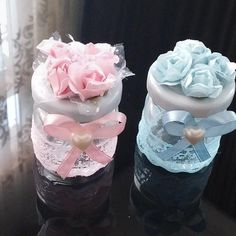 Wedding Art, Wedding Favors, Wedding Gifts, Baby Boy Shower, Baby Shower Gifts, Baby Gifts, Jar Crafts, Diy And Crafts, Chocolate Wrapping
