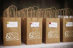 unique wedding favor bags