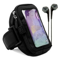 VG Zippered Hardcore Workout Armband for Motorola X Pure Pure Edition / X Style / Moto G Smartphones with Black Headphones, Black. Zippered layer pouch provides absolute protection ensuring your phone will never fall out. Smart pocket included inside allowing you to store keys, id, credit cards, or cash. Velcro elastic loop holds and stores earphones for personal use whenever required on the outside. Safety Strap secures phone in place while working out keeping you phone in arm's reach....