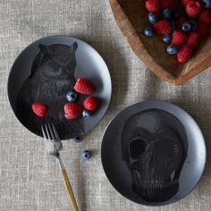 Spooky Canapé Plates eclectic dinnerware