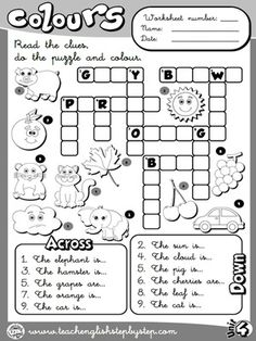 English worksheet: Colours Spelling Practice for Children