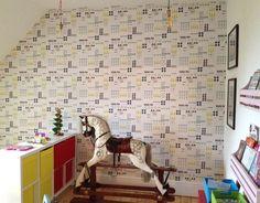 Landscape wallpaper in our client's house.