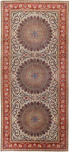 Persian Tabriz 60 Raj silk rug