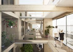 Image 4 of 18 from gallery of JAJA Wins Second Prize for Swedish Housing and Market Hall Hybrid. Photograph by JAJA Architects