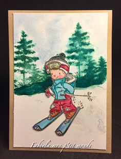 mon p'tit monde Tim Holtz, Stamp, Winter Wonderland, Baseball Cards, Painting, Art, Romantic Scenes, Brown Paint, Bristol Board